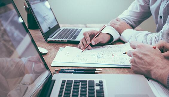leadership reviews how to process company data