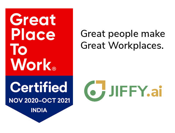 JIFFY.ai named Great Place to Work (mid-size comapny)