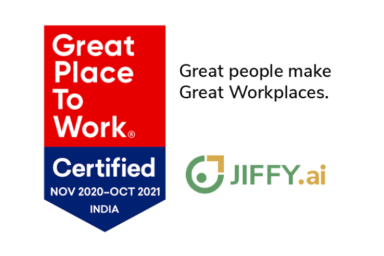 JIFFY.ai named Great Place to Work (mid-size company)